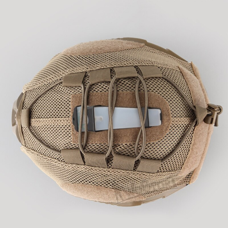 AIRSOFTPEAK Military Tactical Combat Molle Hook & Loop Helmet Cover for Airsoft Paintball - Black or Tan