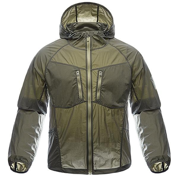 Super Lightweight Quick Dry Technical Tactical Windbreaker Jacket - Army Green, Khaki or Gray