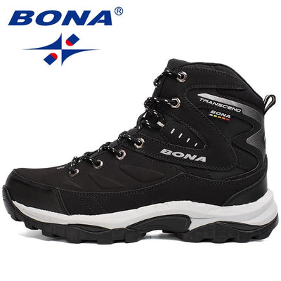 BONA Military Tactical Combat Leather Mid-Ankle Mens Hiking Climbing Boots - 6 Colors