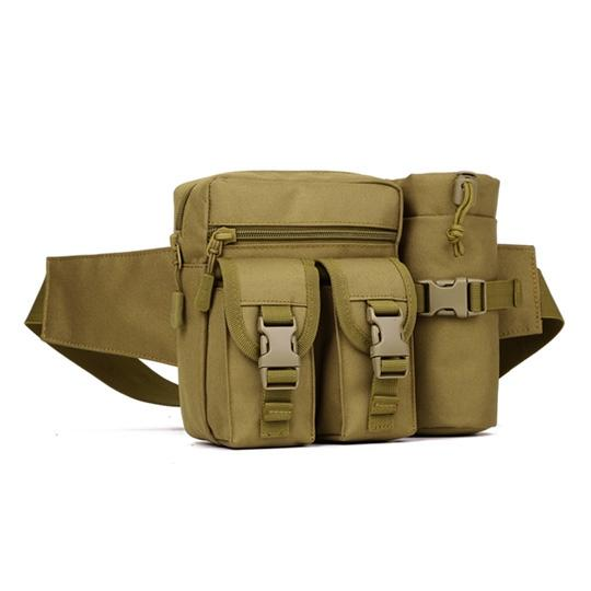 Tactical MOLLE Waist Pack EDC Pouch Water Bottle Belt Bag Sling Bag Lightweight Waterproof Hunting Trekking Travel Waist Pack - 8 Colors