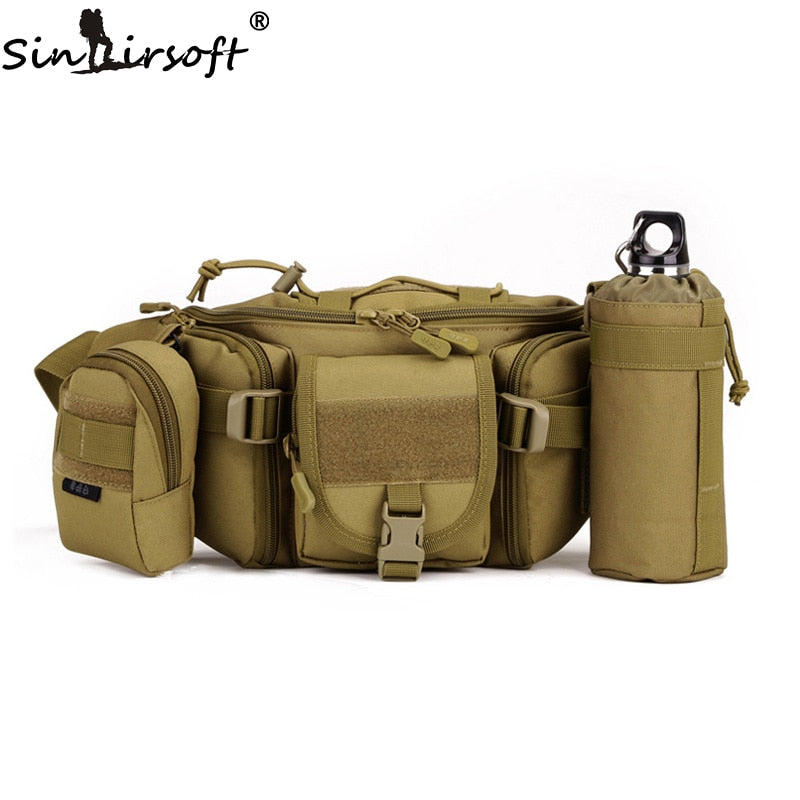 SINAIRSOFT LY0022 Molle Military Tactical Combat Nylon Canvas Waist Fanny Pack Bag Pouch