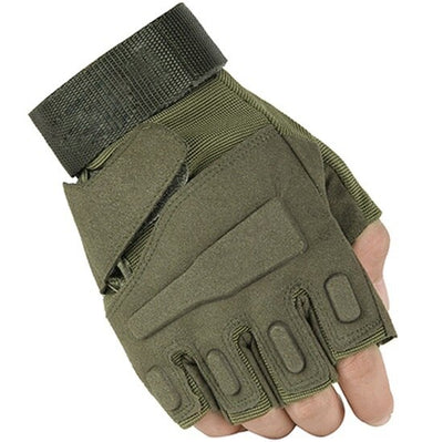 MEGE KNIGHT Military Tactical Combat Anti-Skid Microfiber Half-Finger Gloves - 3 Colors