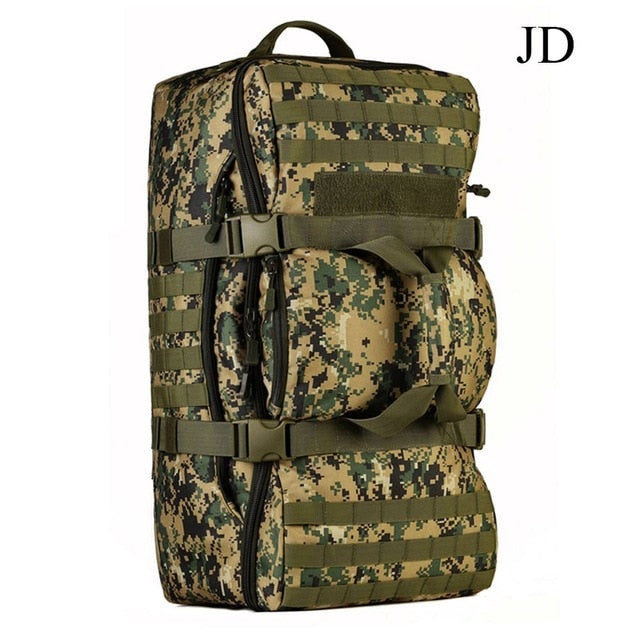 Tactical MOLLE 60L Military Backpack Multi-Purpose Travel Bag Holdall Kit Bag Backpacking Rucksack Shoulder Bag - 4 Colors