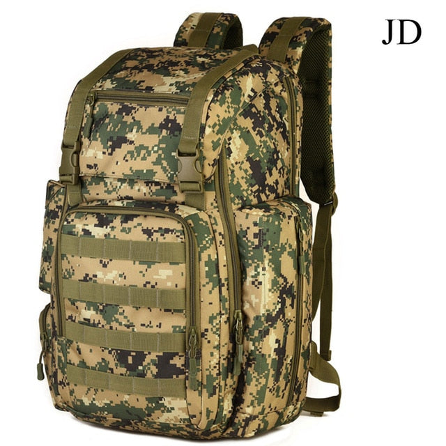 Tactical MOLLE 40L Backpack For 17 Inches laptop Army Military Tactical Sport Backpack With Shoe Bag Molle System For Camping Hiking Trekking - 6 Colors