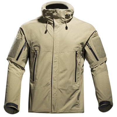 Ultimate Tactical Technical Lightweight Winter Jacket For Men Weatherproof Breathable Hooded - in Black, Army Green & Khaki