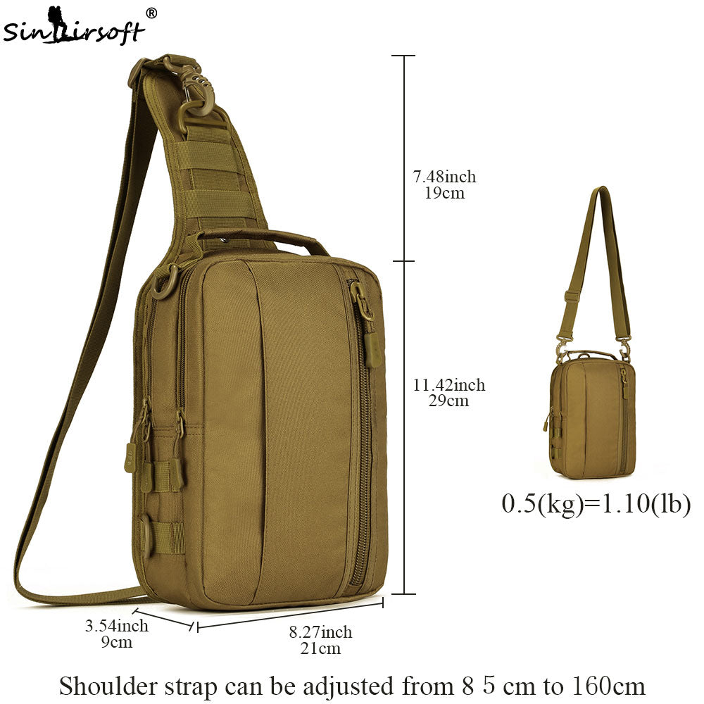 SINAIRSOFT X211 Molle Military Tactical Combat Nylon Canvas Shoulder Bag Pouch