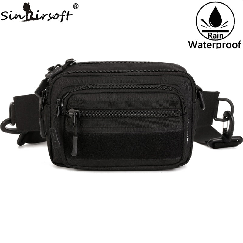 SINAIRSOFT Nylon Outdoor Sports Running Waist Bags Tactical Military Travel Hiking Climbing Riding Handbag Molle Bags