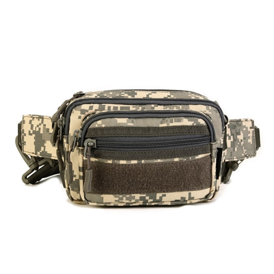 Tactical Waist Pack MOLLE Pouch Nylon Military Multi-Pocket Belt Pack For Travel Trekking Hiking Climbing - 5 Colors