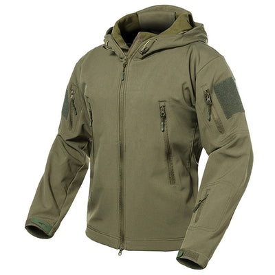 s.ARCHON Softshell Hooded Military Tactical Combat Men's Camouflage Water Resistant Windbreaker Jacket - 15 Camo Colors