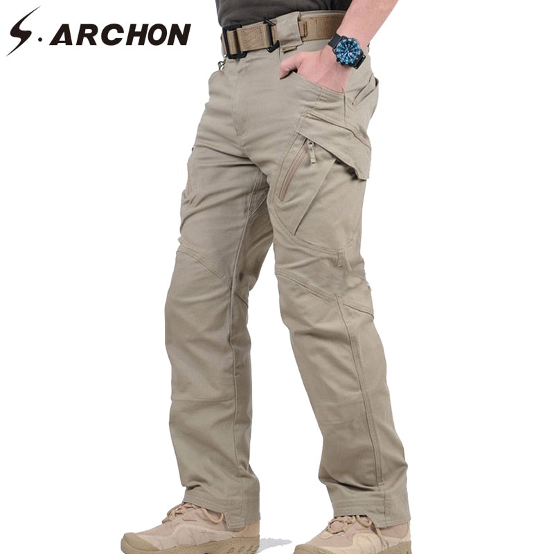 s.ARCHON IX9 Military Tactical Combat Cotton Men's Cargo Trouser Pants - 5 Colors
