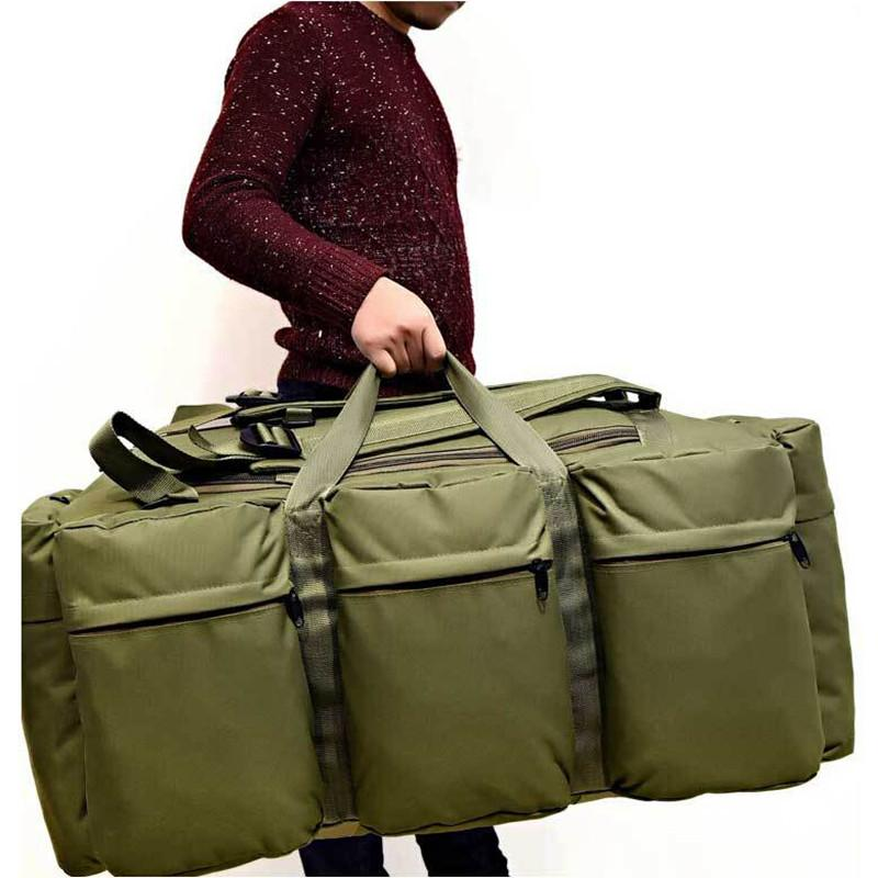 Large Capacity 90L Military Tactical Kit Bag Backpack Trek Travel Rucksack Camp Hike Waterproof Camouflage Luggage Bag Men's Large Travel Bag