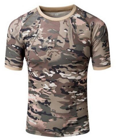 aichAngel Military Tactical Combat Coolmax Breathable Camouflage Quick Dry Short Sleeve Men's T-Shirt - 15 Colors