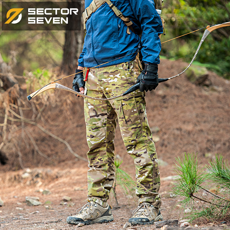 SECTOR SEVEN IX5C Military Tactical Combat Camouflage Cotton Polyester Men's Cargo Camo Pants