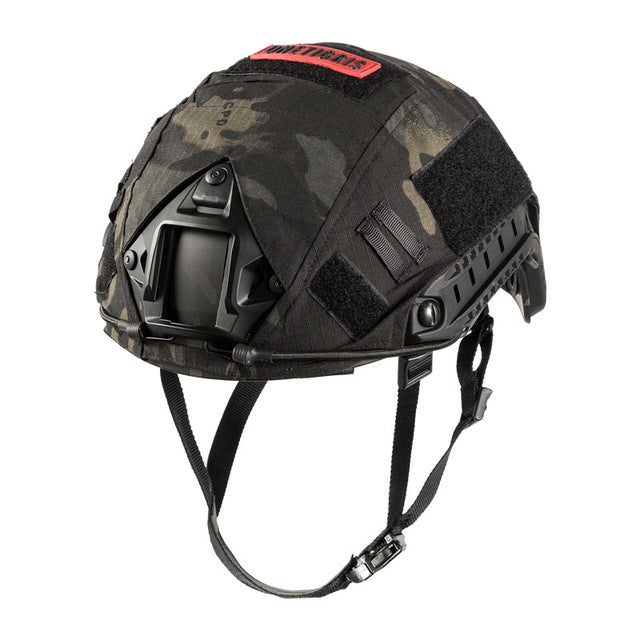 ONERIGRIS Military Tactical Combat Molle Airsoft Paintball PJ Style Helmet with Cloth Cover - Black or Camo