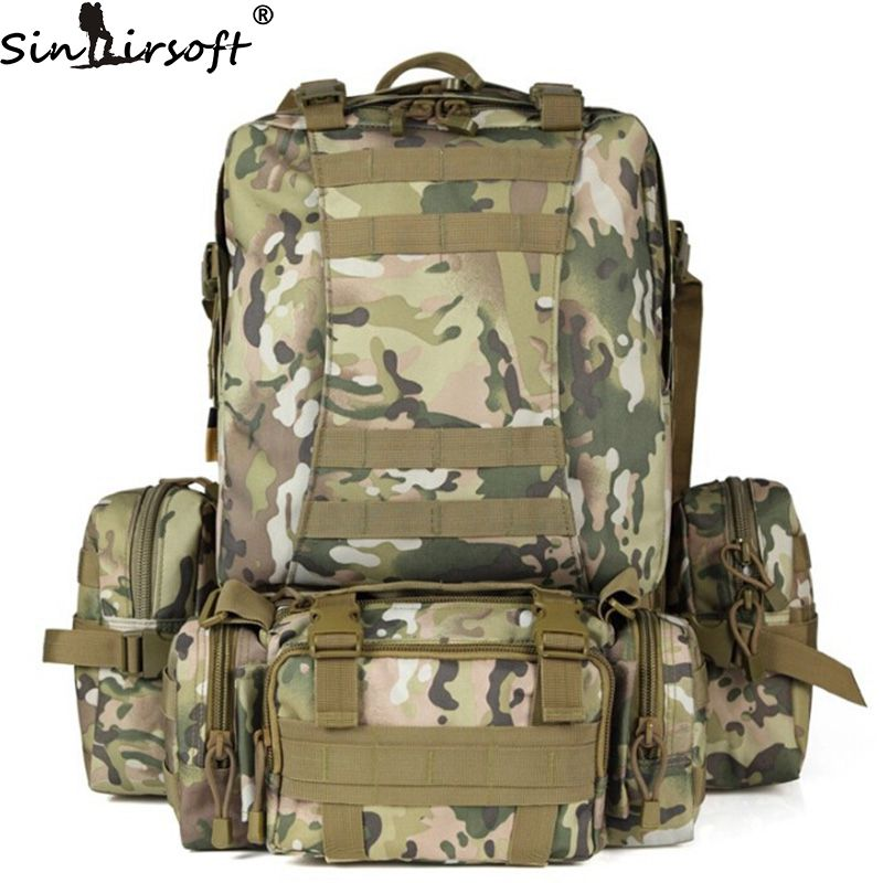SINAIRSOFT 13Gal 50L Molle Military Tactical Combat Nylon Canvas Backpack