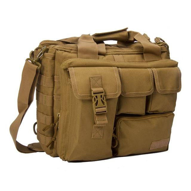 Tactical MOLLE Travel Bag Shoulder Bag Multi Compartment Laptop Bag For Computer Cameras Military Tactical Messenger Bag - 8 Colors