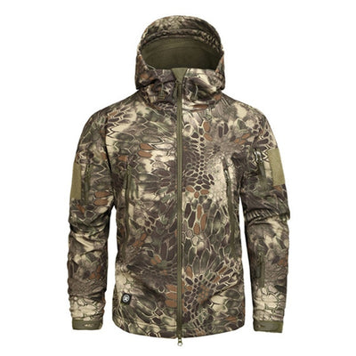MEGE KNIGHT CPOD1 Hooded Military Tactical Combat Men's Camouflage Water Resistant Windbreaker Jacket - 18 Camo Colors