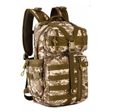 "SCIONE 17""x9""x7"" (23*18*44CM) Molle Military Tactical Combat Nylon Canvas Backpack"