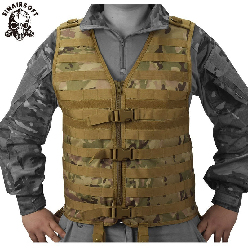 SINAIRSOFT Molle Airsoft Tactical Vests Vest Camouflage Vest Army Military CS Outdoor Fishing Hunting Gear Swat Militaria