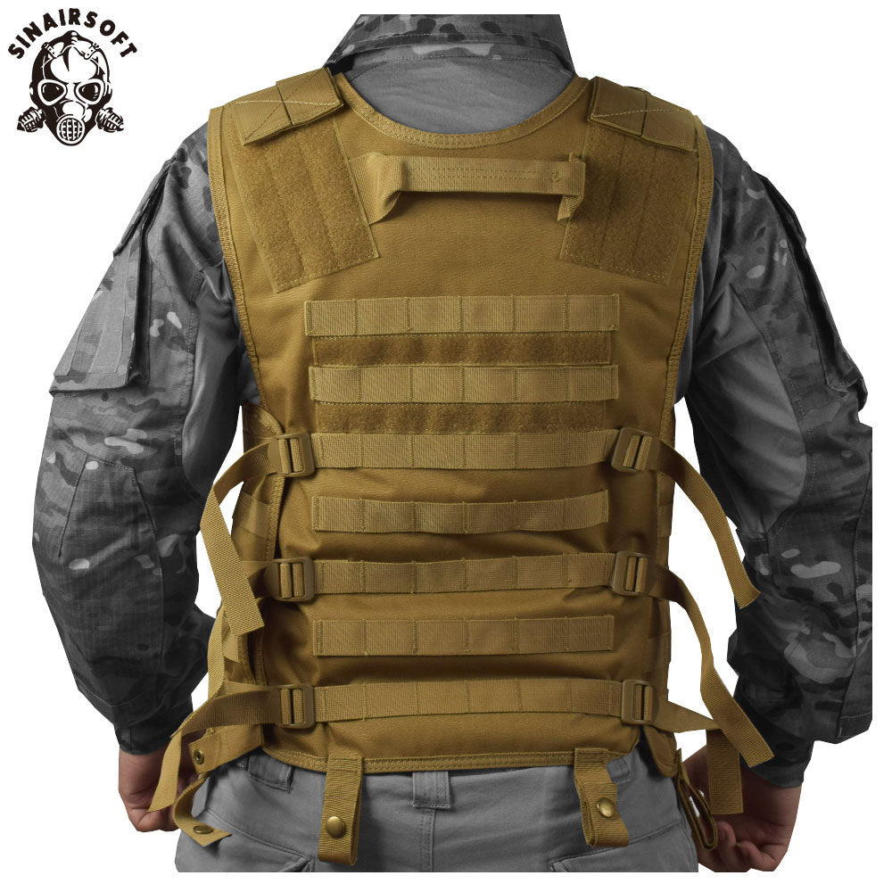 SINAIRSOFT Molle Military Tactical Combat Nylon Canvas Vest