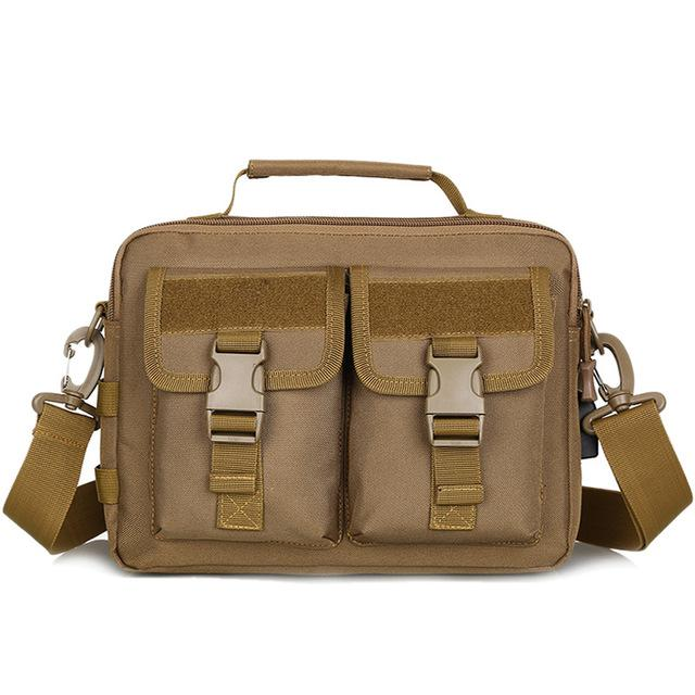 Tactical Messenger Bag Military MOLLE Holdall Unisex Tactical Shoulder Bag Military Camouflage Travel Commute Handbag - 6 Colors
