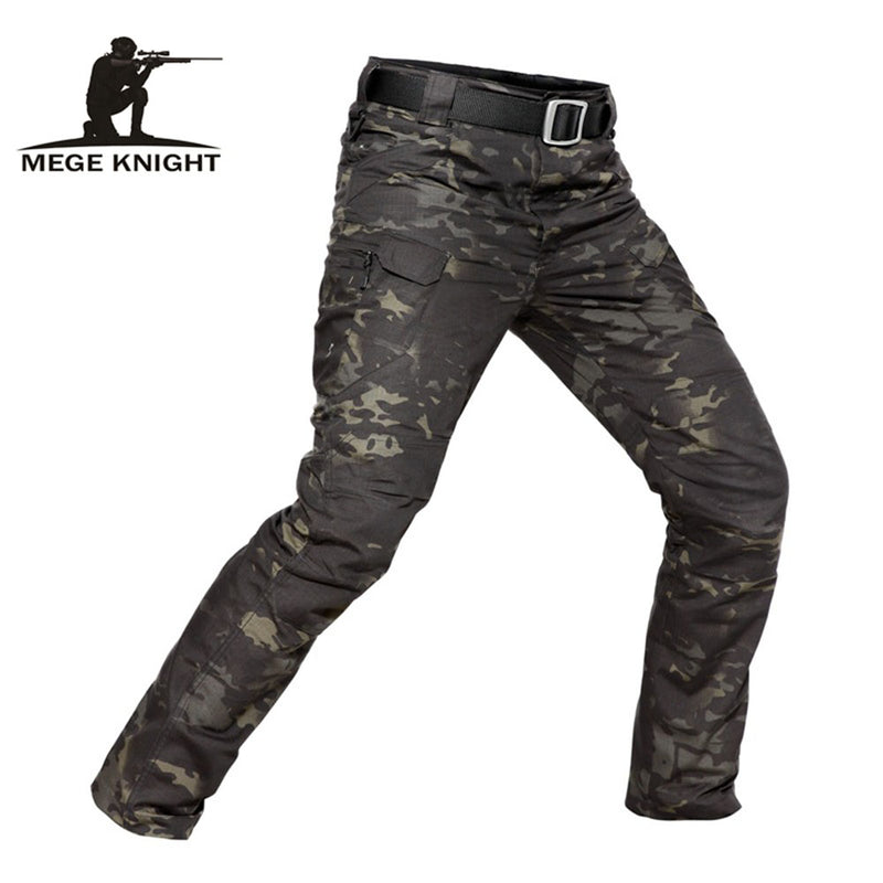 MEGE KNIGHT Military Tactical Combat RipStop Poly/Cotton Men's Camouflage Trouser Cargo Pants - 7 Camo Colors Up to 42