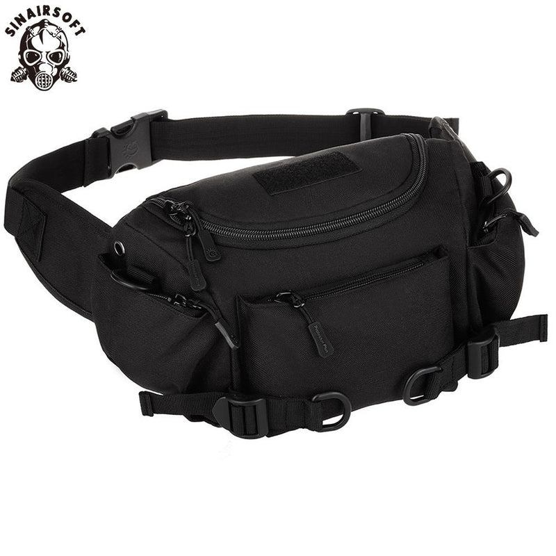 SINAIRSOFT Molle Military Tactical Combat Nylon Canvas Waist Fanny Pack Bag Pouch