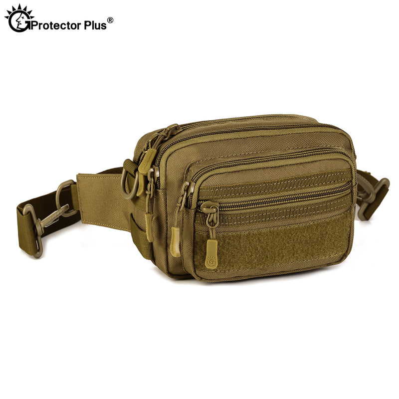 PROTECTOR PLUS LY0053 Molle Military Tactical Combat Nylon Canvas Waist Fanny Pack Bag Pouch
