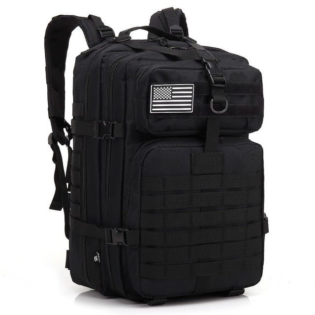 FREE KNIGHT 12Gal 45L 900D Molle Military Tactical Combat Nylon Canvas Backpack