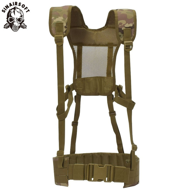 SINAIRSOFT Molle Military Tactical Combat Nylon Canvas Shoulder Sling Vest