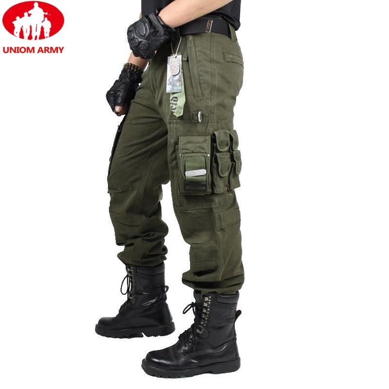 UNION ARMY Military Tactical Combat Cargo Cotton Men's Trousers Pants
