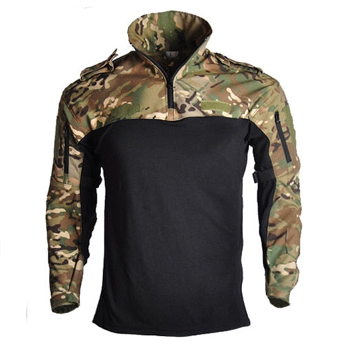 aichAngel TAO401 Military Tactical Combat Cotton Polyester Nylon Long-Sleeve Camouflage Men's Shirt - 4 Camo Colors
