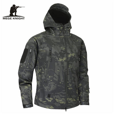MEGE KNIGHT JK000 Hooded Military Tactical Combat Men's Camouflage Water Resistant Windbreaker Jacket - 14 Camo Colors