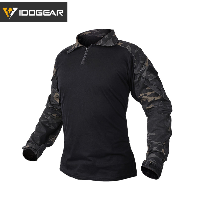 IDOGEAR G3 Military Tactical Combat Long Sleeve Camouflage Men's Shirt - 2 Camo Colors
