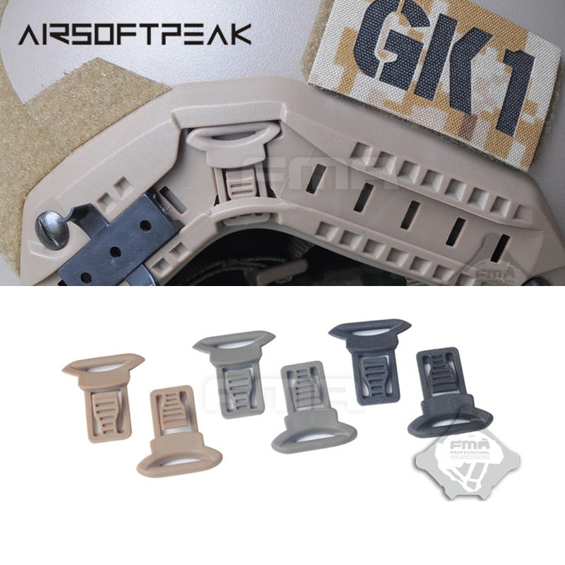 AIRSOFTPEAK Military Tactical Combat Molle Helmet Swivel Side Rail Clips - 3 Colors