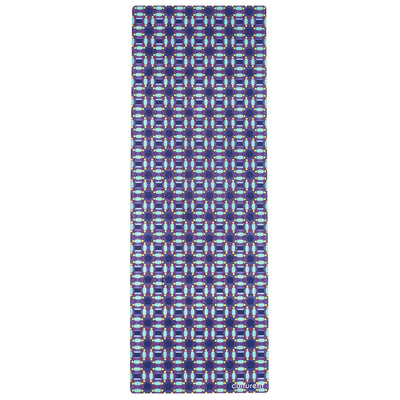 Culture Fit Blue Ankara Yoga Mat Sky View
