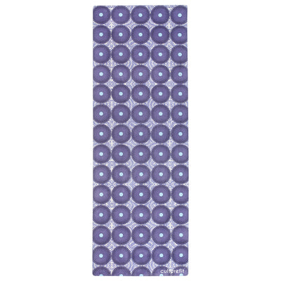 Culture Fit Purple Ankara Yoga Mat Sky View