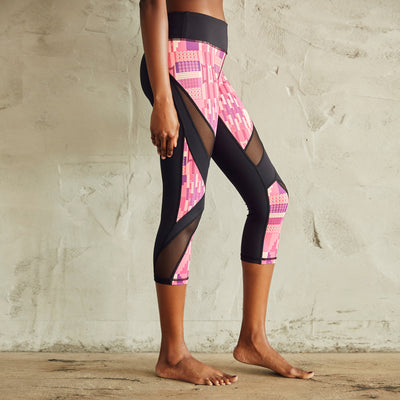 Culture Fit Kente Capris Side View