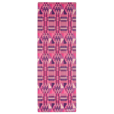 Culture Fit Kente Yoga Mat Sky View