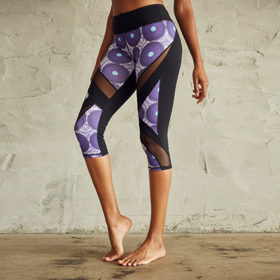 Culture Fit Purple Ankara Capris Side View