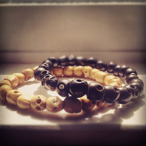 Custom Skull Bracelet in Black