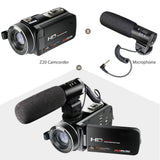 1080P  Digital Video Camera with External Microphone