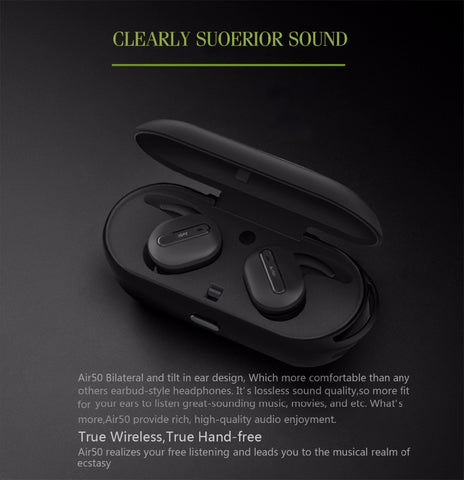 True Wireless Bluetooth Earphones Stereo Binaural Sports