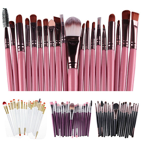 Hot 20X Makeup Set Powder Foundation Eyeshadow Eyeliner Lip Beauty Brushes