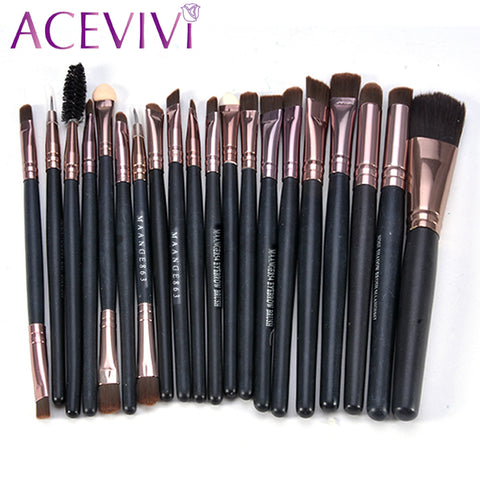 ACEVIVI 20Pcs Professional Cosmetic Makeup Brushes