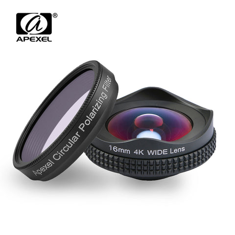 APEXELProfessional 4K Wide lens ( IOS - Android )