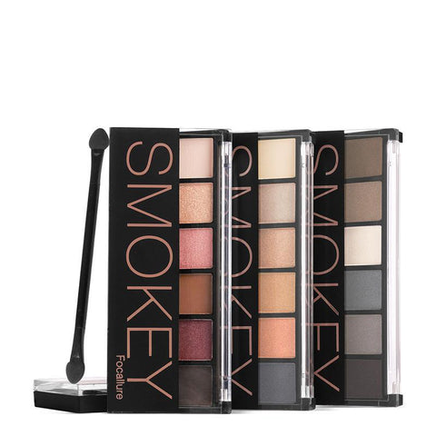 FOCALLURE 6 Colors Eyeshadow Palette Glamorous Smokey