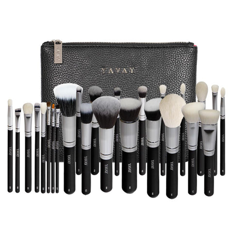 YAVAY 25pcs Original Pro Luxury Artist Makeup Brush Set