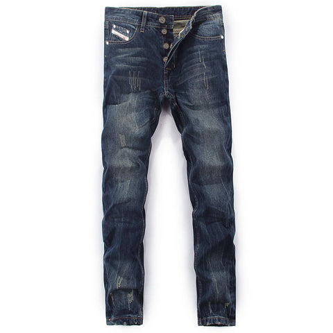 Balplein straight cotton solid color wild men jeans casual