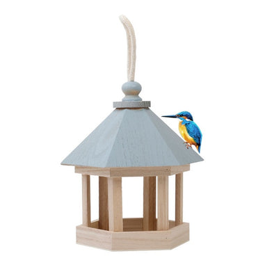 Wooden House Bird Feeder